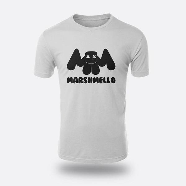 DJmarshmello Remix Tees Erkek Beyaz S-3XL Tişört