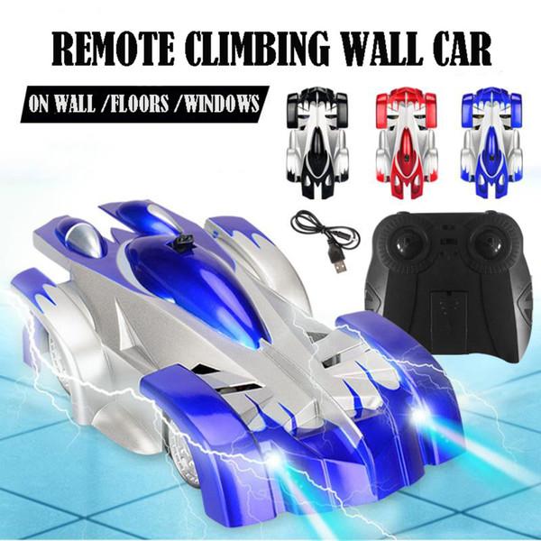 Mini multifunktionale Infrarotsteuerung Mini Schwerkraft RC Auto Kinder Elektrische Spielzeug Led-leuchten Wand Klettern RC Fahrzeug Stunt Auto TSLM1