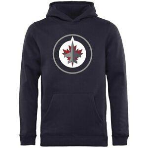 Rinkside Winnipeg Jets Gençlik Donanması Birincil Logo Kazak Hoodie