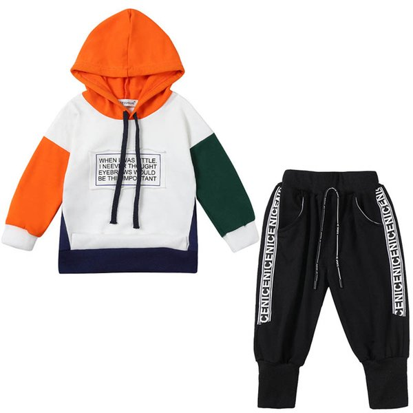 kids tracksuit casual baby tracksuit boys suits hoodie+pants baby boy clothes boys clothing sets baby infant boy designer clothes A6371