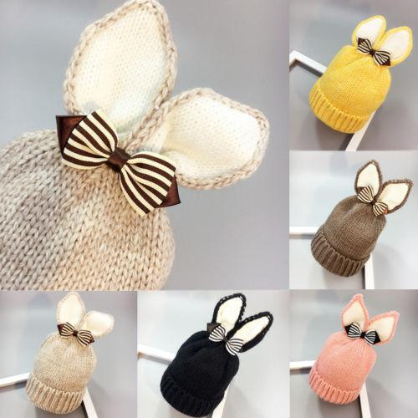 Kids Girl Boy Baby Infant Winter Warm Bonnet Crochet Knit Hat Beanie Toddler Cap