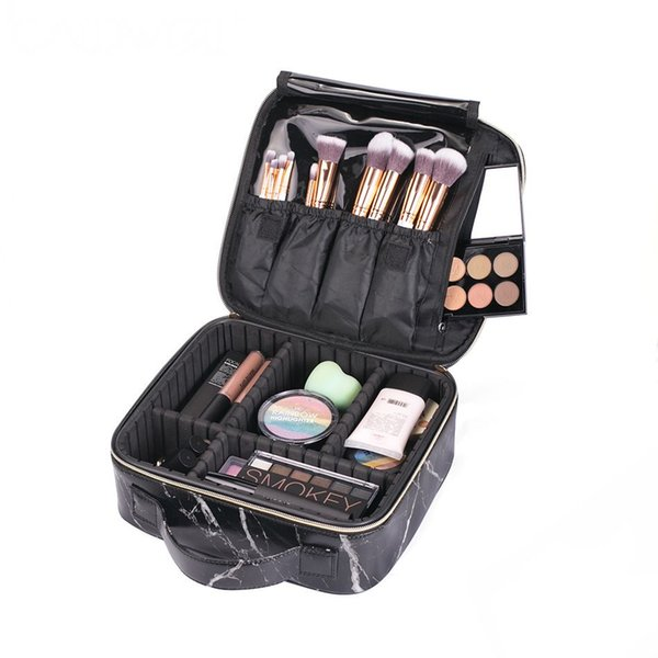 Professional Marble Makeup Bags Travel Organizer Cosmetic Bags Tool Pouch Make Up Beauty Case Tattoo Nail Kit Storage CN259