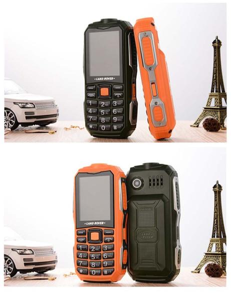 Heiß! militärische Feldstärke drei Beweise Mobiltelefone Super-lange Standby-Dual-SIM-GSM 6800mha Handy Englisch Russland Spanisch Portug