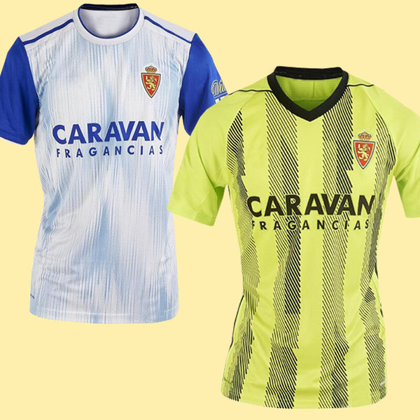 best selling Top THAILAND Quality 19 20 Real Zaragoza home away Soccer Jersey 2019 2020 Zaragoza Real Saragossa Borja Iglesias POMBO Football shirts