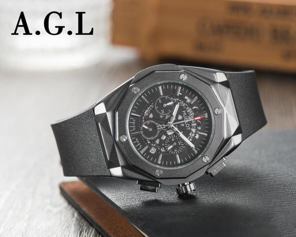 Nouvelle montre de mode pour hommes Super Avenger II 1884 mouvement à quartz chronographe hommes bracelet en caoutchouc montre A133711 montre Relogio Masculi