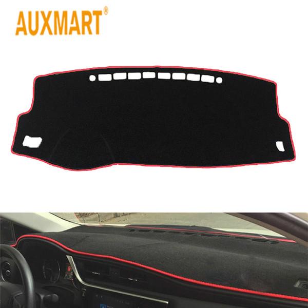 Auxmart voiture rouge tableau de bord tapis de tableau de bord antidérapant pad antidérapant noir avec bordure de couleur pour Toyota Corolla 2014 2015 2016-2018