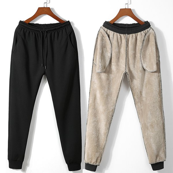 Men Winter Thick Trousers 2018 Man Solid Streetwear Track Pants Male Sweatpants Wool Casual Joggers Pants Plus Size
