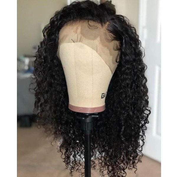 Natural Kinky Curly Wigs Brazilian 100% Human hair Wigs With Baby Hair Curly Lace front and Full lace Wig For Black Women