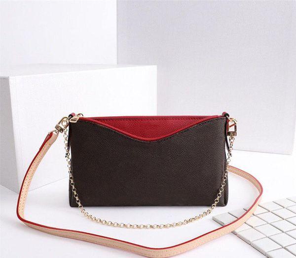 top popular M41638 Genuine Leather Classic Handbags Purses PALLAS CLUTCHES Bag Women Tote Monograms Chain Crossbody Bag Fashion Shoulder Bags 41638 2020
