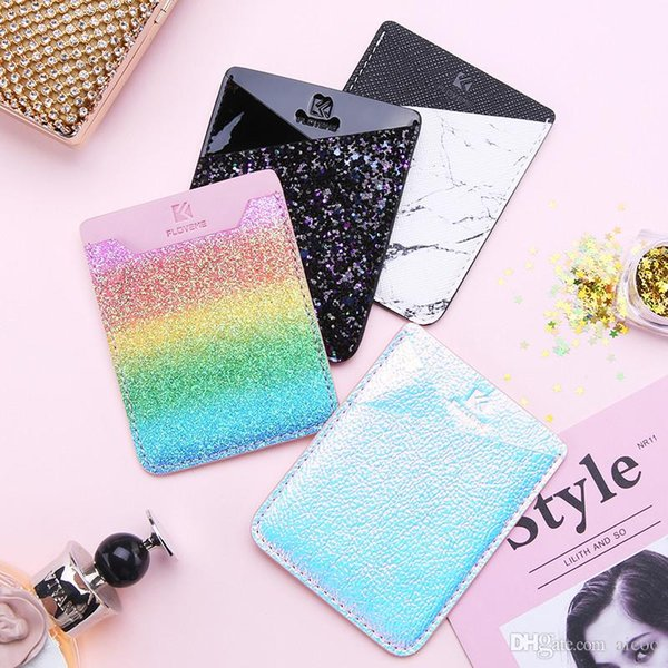Wallet Sticker Card Holder for Back of Phone Credit ID Card Cash Pocket Sticker Adhesive Holder Pouch Mobile Phone 3M Gadget Universal OPP
