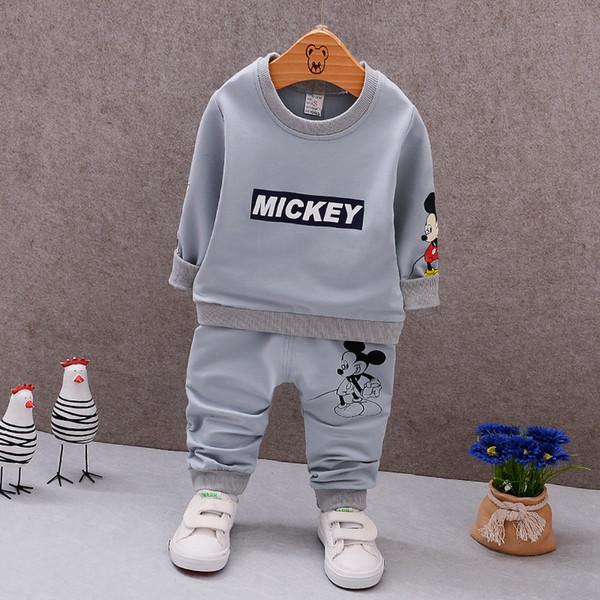 Nouveau Garçon Fille Sport Costume Vêtements Ensemble Pour Les Enfants Garçons Filles Automne Coton Chandail 1 2 3 4 5 Ans Enfants Survêtement Survêtement
