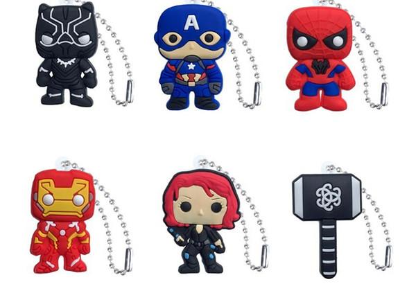 2019 nuevo Marvel Avenger Action Figure PVC llavero llavero Anime llavero moda accesorios empacado Kawaii Party Favors por dhl