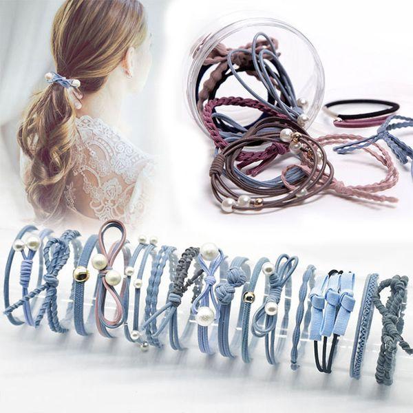 12 Pcs New Fashion Headbands Women Hair Accessories Hair Elastic Bands For Female Girl Hairband Hair Rope Gum Rubber Band