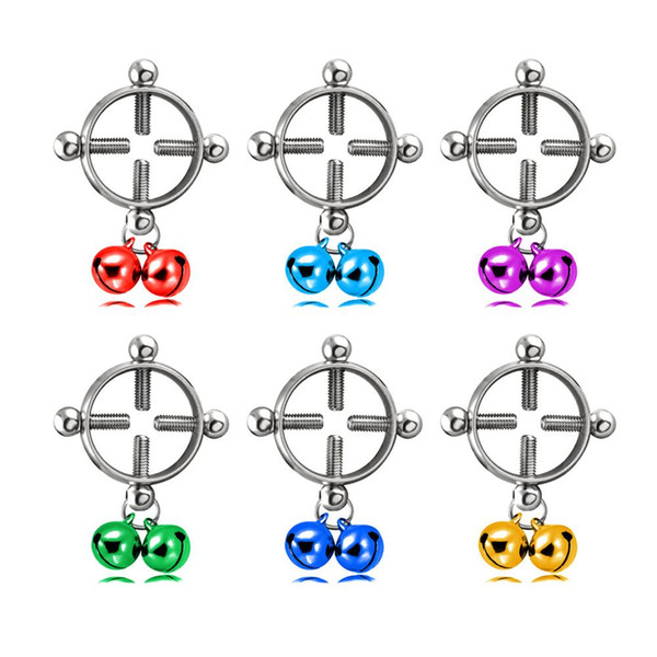 Bunte Kreis Runde Geometrische Glocke Schraube Punktion Durchbohrte Nipple Shield Ring Charm Mode Schmuck Körper Piercing für Mädchen