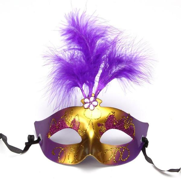 Máscara Do Partido Máscara Máscaras de Glitter Ouro Venetian Unisex Sparkle Masquerade Plástico Metade Máscara Facial Halloween Mardi Gras Traje Brinquedo 6 Cor BC BH1