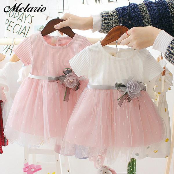 Melario Vestido de niña recién nacida para niña Vestido de cumpleaños de 1 año Moda Princesa linda Bebé Ropa infantil Vestidos de niño pequeño