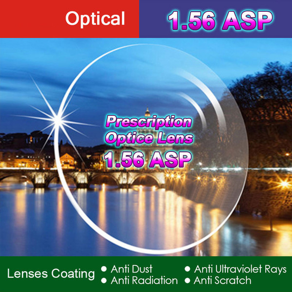 best selling High Quality Index 1.56 1.61 1.67 1.74 Clear Optical Single Vision Lens HMC, Aspheric Anti-UV Prescription Lenses,2Pcs