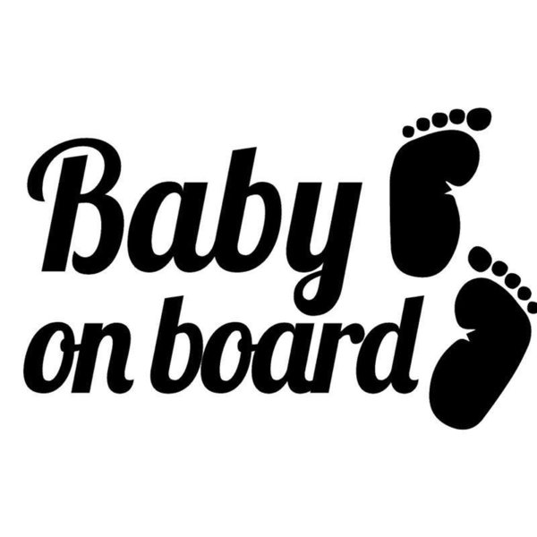 Baby On Board Footprints Car Creatice Sticker Decals Window Door Laptop Cute And Interesting Fashion Sticker Decals