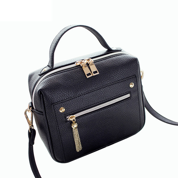 good quality High Quality Pu Leather Women Top-handle Bag Small Women Messenger Bag Girls Shoulder Bag Fashion Women Bags
