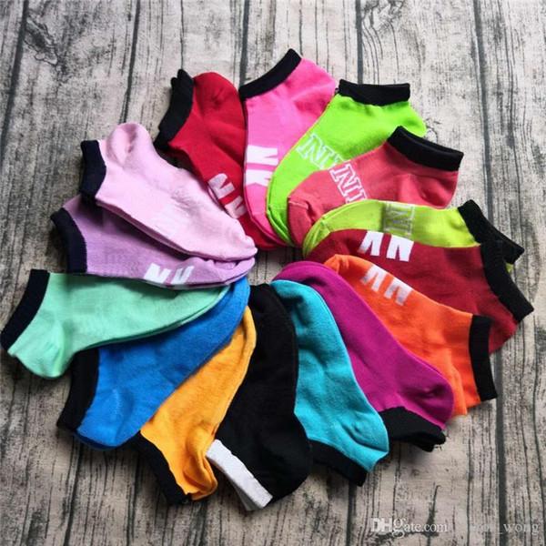 best selling Pink Black Boys & Girls' Short Socks Cheerleaders Basketball Outdoors Sports Unisex Adult Ankle Socks Free Size Multicolors
