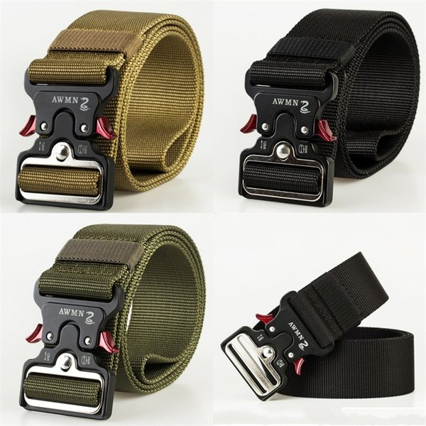 Outdoor Tactical Belt Cobra Snap Waistband 5 Cm Fast Untie Girdle Bead Ribbon 3 Colours Simple Practical 20hg D1