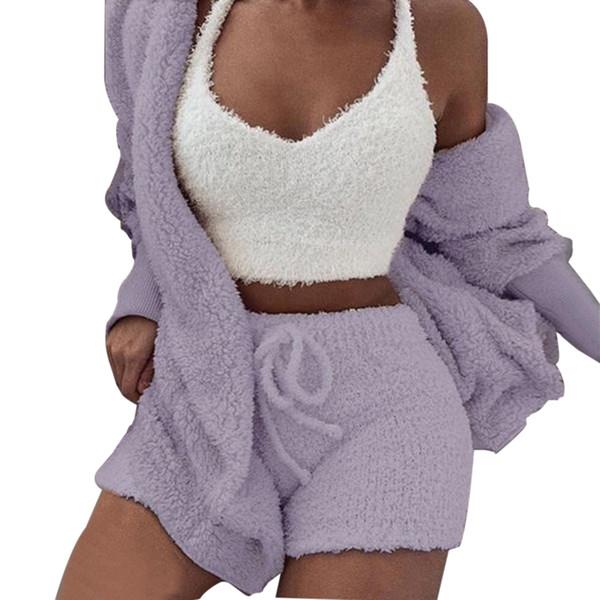 violet ensemble 3 pièces