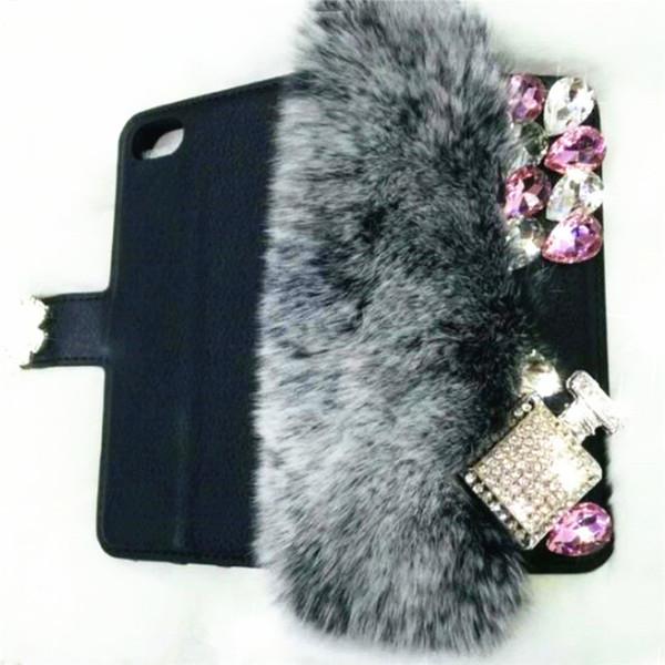 1Pcs Rhinestone Fur Wallet Leather Phone Case For Samsung Galaxy J2 J4 Core J4 J6 Prime J8 A6 A8 Plus A7 A9 J2 Pro 2018 A6s A8s