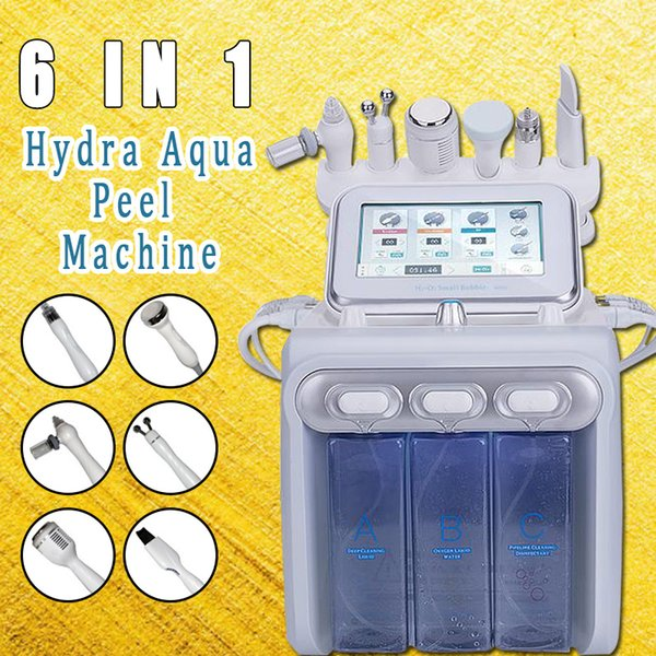 Hydra Dermabrasion portatile H2-O2 Aqua Peel RF Bio-lifting Spa Facial Hydro Water Microdermoabrasione Macchina facciale Cold Hammer Oxygen Spray