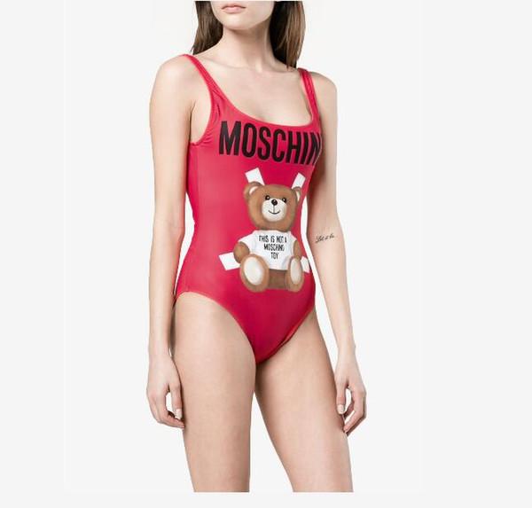 Bikini de marque d'été pour les femmes maillots de bain avec lettres Sexy maillots de bain de luxe Set One-piece Womens maillots de bain avec mignon petit ours