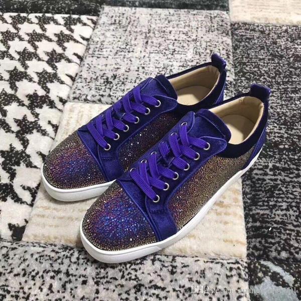 Designer Sapatilhas corte baixo Spikes Flats sapatos de fundo vermelho para Homens e Mulheres de couro Sneakers partido mx889601 sapatos de grife