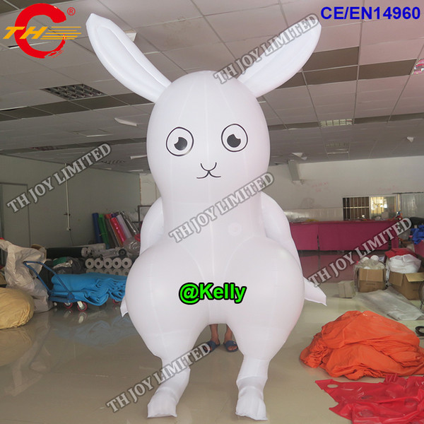 white inflatable rabbit lying on ground for advertisingoutdoor big inflatable easter bunny cartoon Easter inflatable models for display