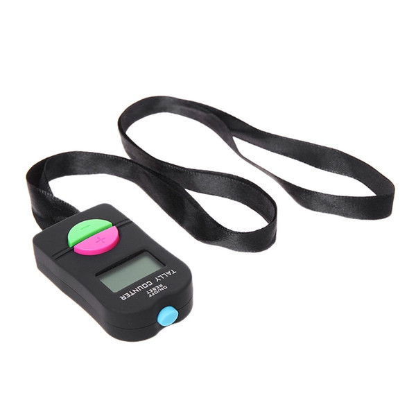Digital Hand Tally Counter Electronic Manual Clicker Golf Gym Hand Held Counter