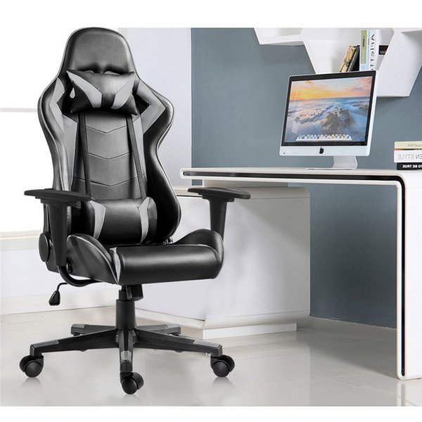 Gaming Chair Office Chair High Back Ergonomic Height Adjustment Executive Support Desk Chair Support Headrest and Lumbar red blue gray