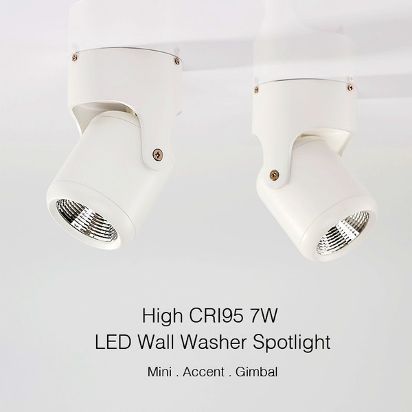2019 Allato Lighting Surface Mount Led Wall Washer Spotlight Indoor 7w Cri90 2700k 3000k 4000k 6000k Adjustable Accent Ceiling Bulb From Hilumen