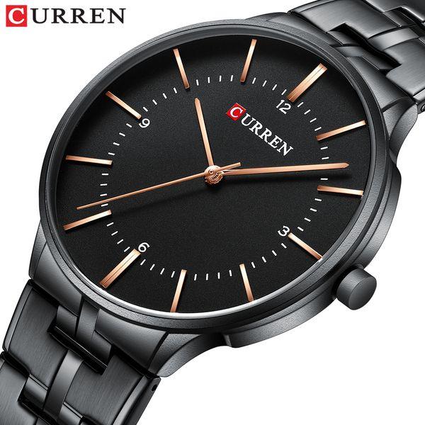 2019 Top Brand CURREN Luxury Quartz Watches for Men Wrist Watch Classic Black Stainless Steel Strap Men's Watch Waterproof 30M