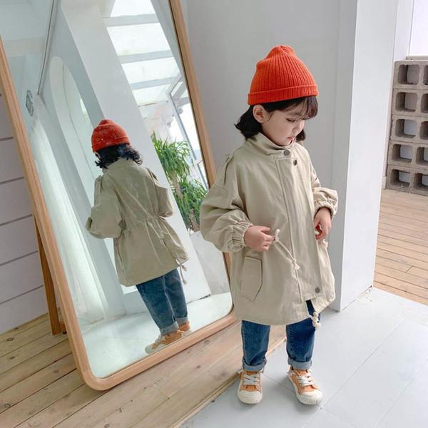 2019 nueva llegada niñas niños abrigo otoño algodón manga completa moda niños chaqueta 1-6 años