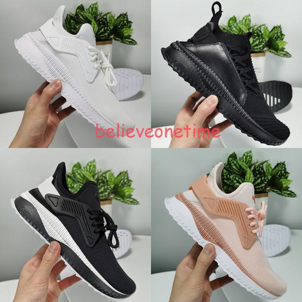 Erkekler Kadınlar TSUGI Haziran Lace Up Beyaz Tekstil Çorap Fit Koşu Eğitmenler Ayakkabı Atletik Moda Sneakers Koşu Spor Ayakkabı Boyutu 36-44