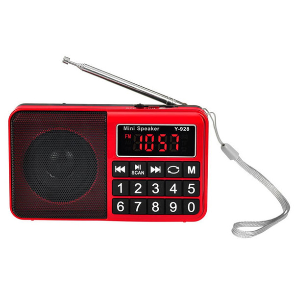 Receiver Portable Music Handheld USB Radio AM FM Stores Automatically Rechargeable Button With Speaker Digital Large Display