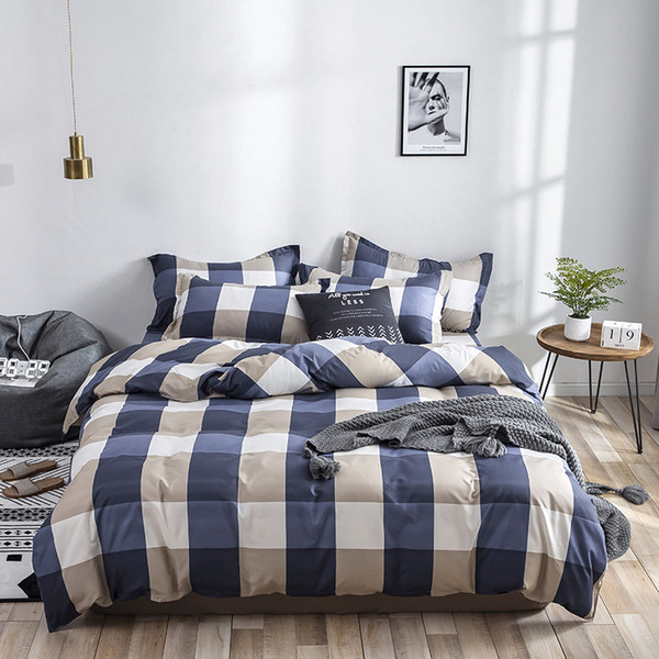 Bedding set 2019 latest Skin friendly cotton duvet cover set Twin Full Queen King Size Quilt cover Bed Sheet Pillowcases