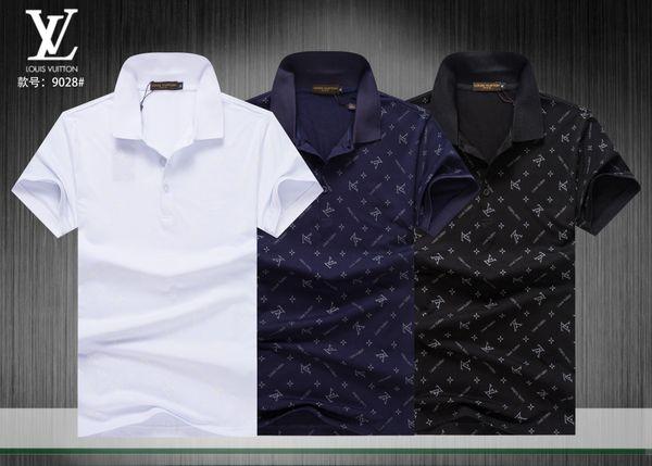 f6ec464775 19ss Designers de Verão Camisas Polo Homens Luxurys Polo Casual Mens Moda  Respirável Listrado Carta de