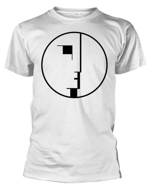 Bauhaus 'Face Logo' (Branco) T-Shirt - Neu und OffiziellFunny frete grátis Unisex Casual top