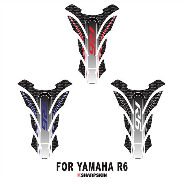Tappetino serbatoio moto 3D Adesivo protettivo decorativo per decalcomanie YAMAHA R6 Fish Bone