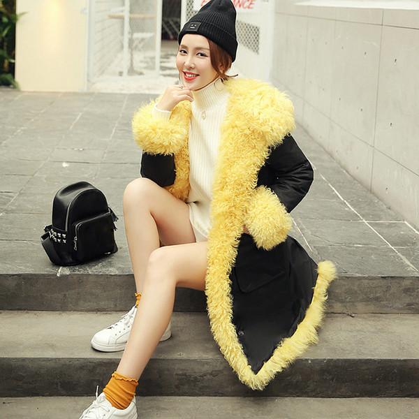 Fleece Coat Women Hooded Hole Design Solid 90% White Duck Down Long Sleeve Pockets High Quality Medium Length Coat 2019 Fashion