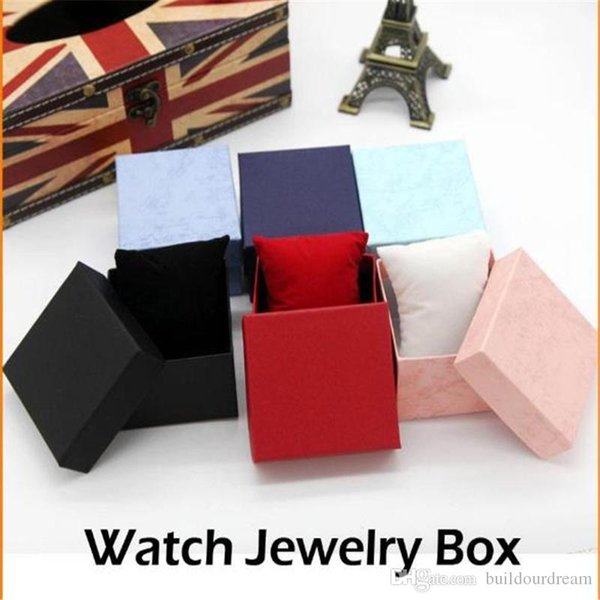 Practical Jewelry Box Present Gift Boxes for Bracelet Bangle Necklace Earrings Watch Case with Foam Pad Free Shipping 2019032712