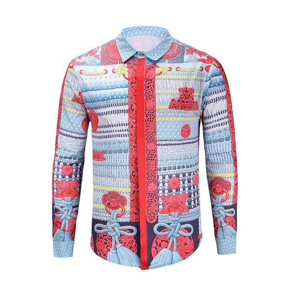 High quality medusa fashion beach men casual business tops shirt holiday long sleeve 3d printed hawaii cheap men's tops dress casual shirts