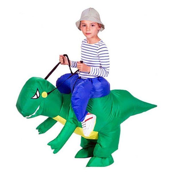 Costume adulto gonfiabile costumi di dinosauro T REX Blow Up vestito operato della mascotte Cosplay per gli uomini Donna Bambino Dino del fumetto
