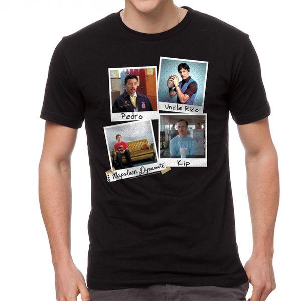 Наполеон Динамит Фото мужская черная прикольная футболка NEW Размеры S-2XL