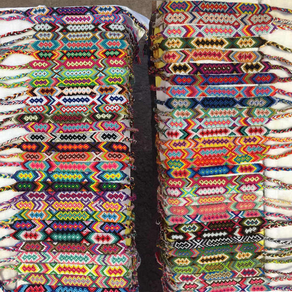 best selling High Quality Vintage Bohemian 1.5CM Width Braided Cotton Rope Cuff Friendship Bracelet Anklet Bracelets Summer Jewelry