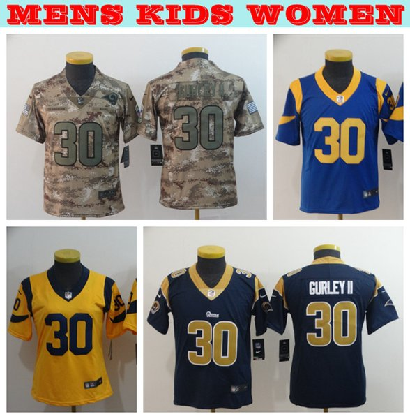 more photos 02fb1 8b27a 2019 Mens Youth Women 30 Todd Gurley II Jerseys Los Angeles Rams Football  Jerseys Stitched Embroidery Todd Gurley II Ladies Kids Mens Jersey Groom To  ...