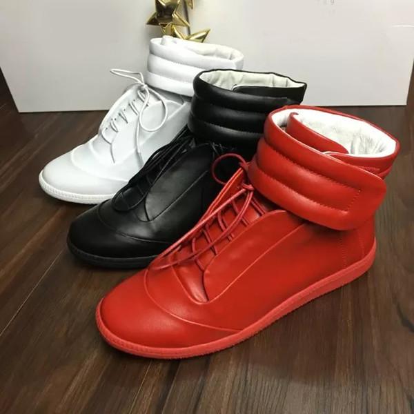 Nouveau Designer Double Box Haute Qualité Homme Nom Haut Haut HookLoop Couleurs Mixtes Plat Pas Cher Sneaker À L'extérieur Chaussures Taille 39-46